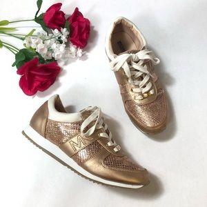 "Michael Kors ""Osaka"" Rose Gold Sneakers | Size: 5"